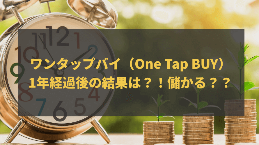 ワンタップバイ(One Tap BUY)1年経過後の結果は?!儲かる??